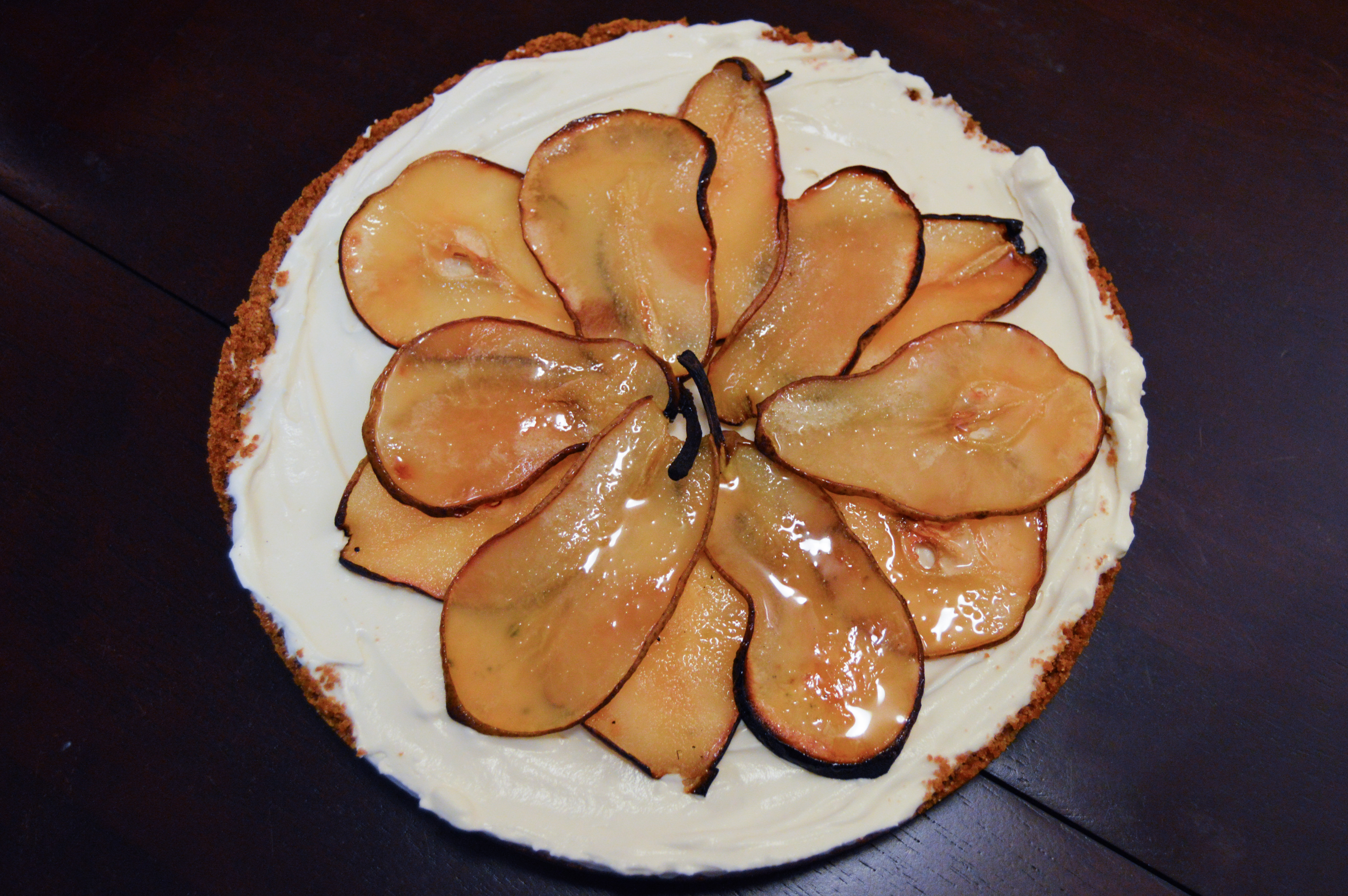 Maple Cheesecake With Roasted Pears Recipe — Dishmaps